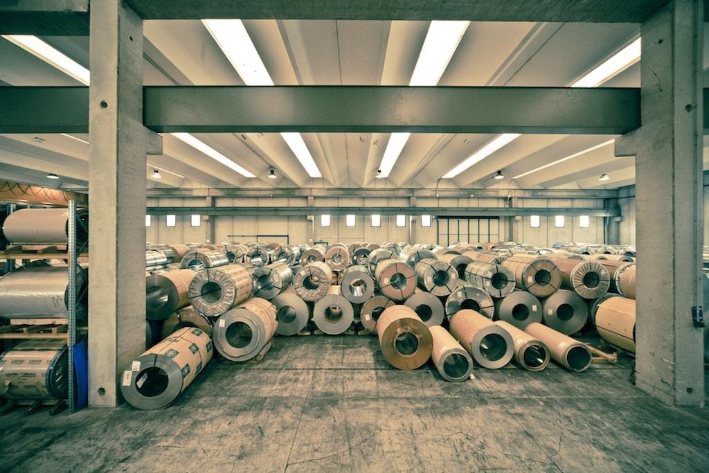 Logistica Inox-Pa magazzino nastrini