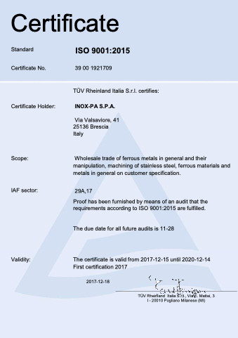 ISO 9001 EN Inox-Pa